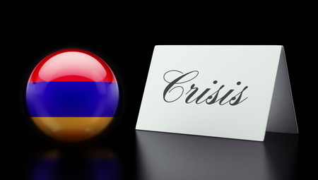 deficit: Armenia High Resolution Crisis Concept Stock Photo