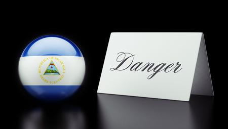 Nicaragua High Resolution Danger Concept photo