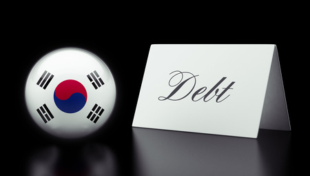 deficit: South Korea High Resolution Sign Concept