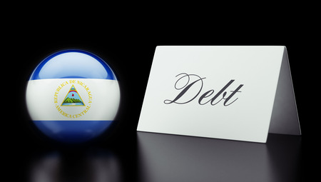 deficit: Nicaragua High Resolution Debt Concept Stock Photo