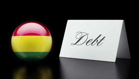 deficit: Bolivia High Resolution Debt Concept