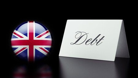 deficit: United Kingdom High Resolution Debt Concept