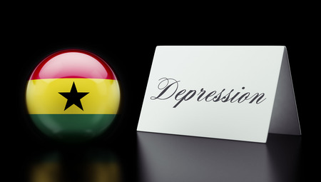 collapsing: Ghana High Resolution Depression Concept Stock Photo