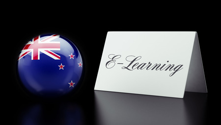 new zealand word: New Zealand High Resolution E-Learning Concept