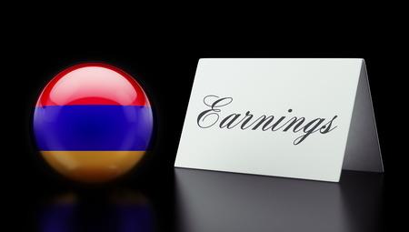 earnings: Armenia High Resolution Earnings Concept Stock Photo