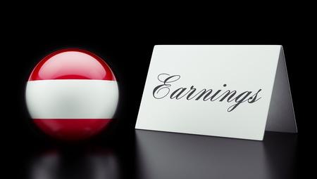 earnings: Austria High Resolution Earnings Concept