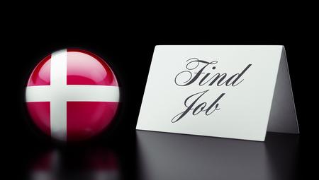 Denmark High Resolution Find Job Concept photo