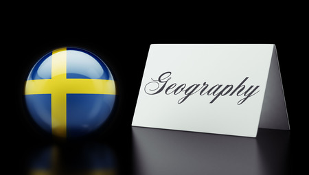 education in sweden: Sweden High Resolution Geography Concept