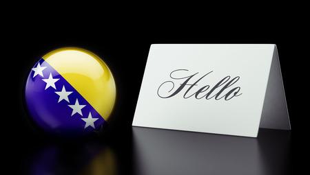 herzegovina: Bosnia and Herzegovina  High Resolution Hello Concept Stock Photo