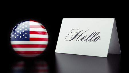 United States High Resolution Hello Concept photo