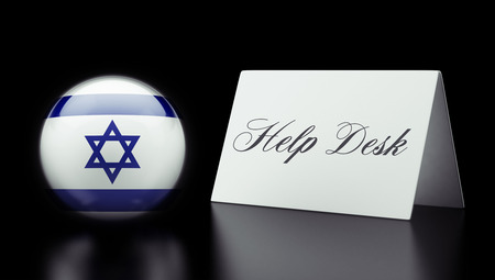 Israel High Resolution Help Desk Concept photo