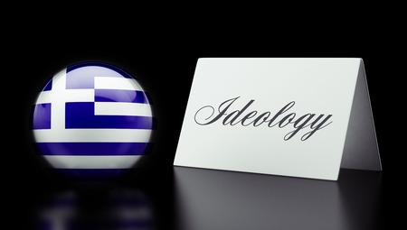 dogma: Greece High Resolution Ideology Concept