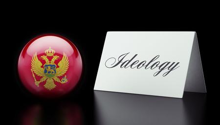 ideology: Montenegro  High Resolution Ideology Concept