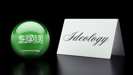 dogma: Saudi Arabia High Resolution Ideology Concept Stock Photo