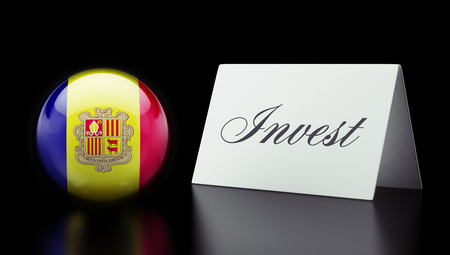 strategist: Andorra High Resolution Invest Concept Stock Photo