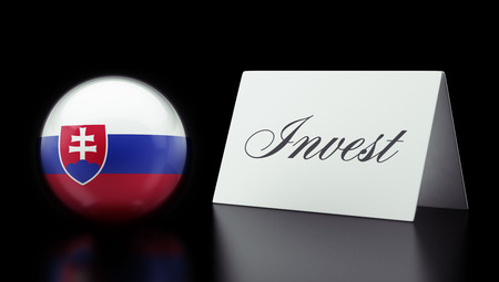 Slovakia High Resolution Invest Concept Stock Photo