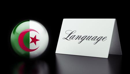 Algeria High Resolution Language Concept Stok Fotoğraf