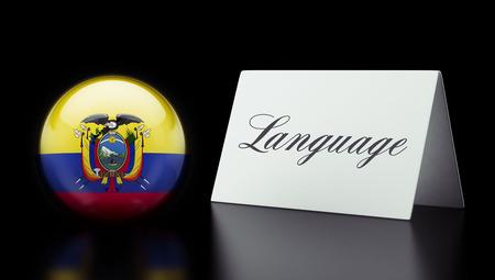 dialect: Ecuador High Resolution Sign Concept Stock Photo
