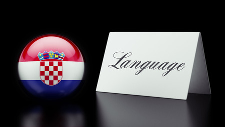 Croatia  High Resolution Language Concept Stok Fotoğraf