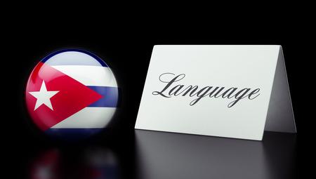 Cuba High Resolution Language Concept Stok Fotoğraf