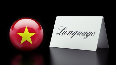 Vietnam High Resolution Language Concept Stok Fotoğraf