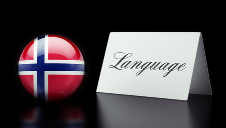 Norway High Resolution Language Concept Stok Fotoğraf
