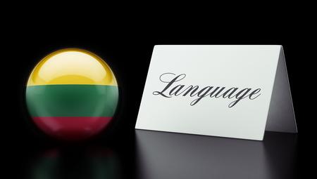 Lithuania High Resolution Language Concept Stok Fotoğraf