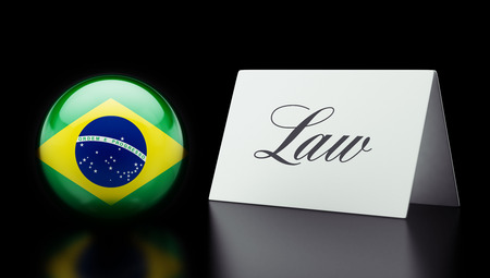 law of brazil: Brazil High Resolution Law Concept