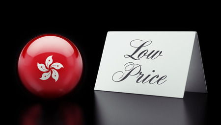 low price: Hong Kong Alta risoluzione Bassa Prezzo Concetto Archivio Fotografico