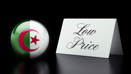 low price: Algeria High Resolution Low Price Concept Stock Photo