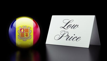 low price: Andorra Alta risoluzione Bassa Prezzo Concetto Archivio Fotografico