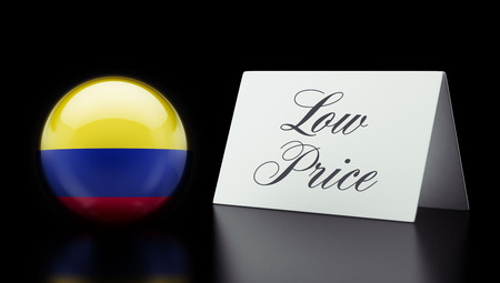 low price: Colombia High Resolution Low Price Concept Stock Photo