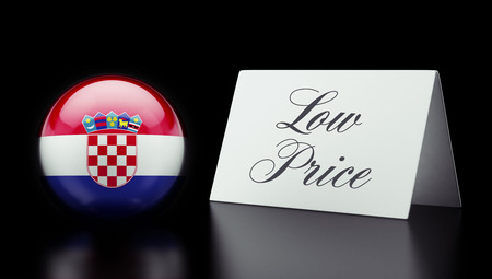 low price: Croatia  High Resolution Low Price Concept Stock Photo