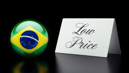 low price: Brazil High Resolution Low Price Concept