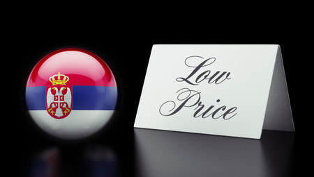 low price: Serbia High Resolution Low Price Concept