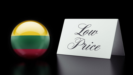 low price: Lithuania High Resolution Low Price Concept