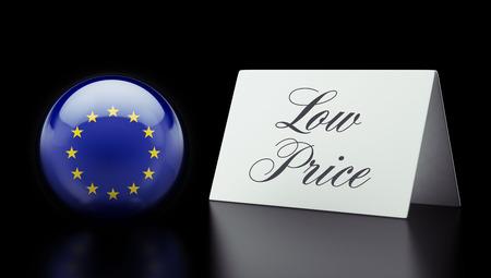 low price: Unione europea Alta risoluzione Bassa Prezzo Concetto Archivio Fotografico