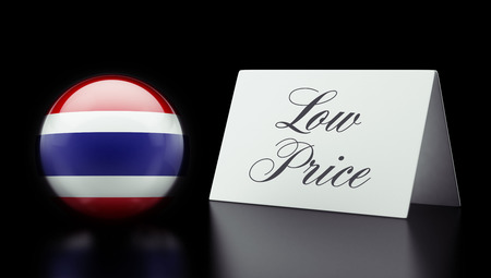 low price: Thailandia Alta Risoluzione Prezzo Basso Concetto