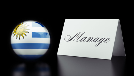 manage: Uruguay High Resolution Manage Concept Stock Photo