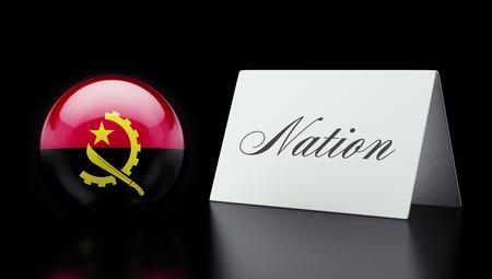 angola: Angola High Resolution Nation Concept Stock Photo