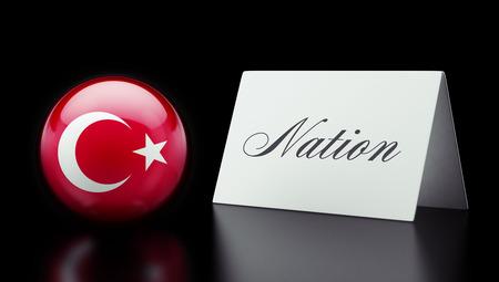 nation: Turkey High Resolution Nation Concept