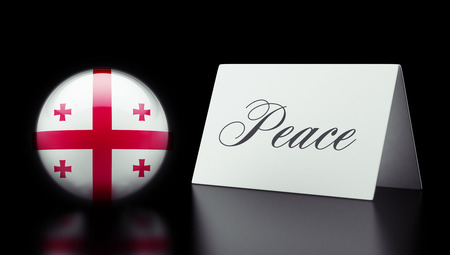 pacifist: Georgia High Resolution Peace Concept Stock Photo