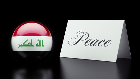 pacifist: Iraq High Resolution Peace Concept Stock Photo