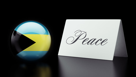 pacifist: Bahamas  High Resolution Peace Concept Stock Photo