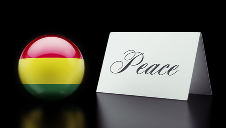 pacifist: Bolivia High Resolution Peace Concept Stock Photo