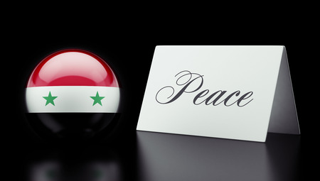 syria peace: Syria High Resolution Peace Concept Stock Photo