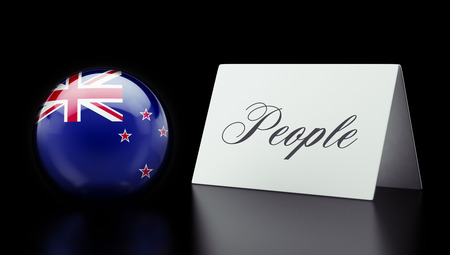 new zealand word: New Zealand High Resolution People Concept