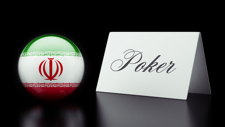 wining: Iran High Resolution Poker Concept Stock Photo