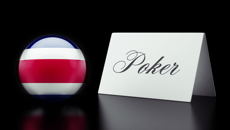 wining: Costa Rica  High Resolution Poker Concept