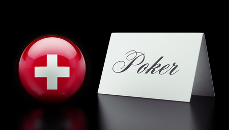 wining: Switzerland High Resolution Poker Concept
